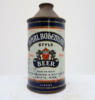 "Royal Bohemian ""Strong"" ""Treat Yourself Royally"" Cone Top Beer Can #1"