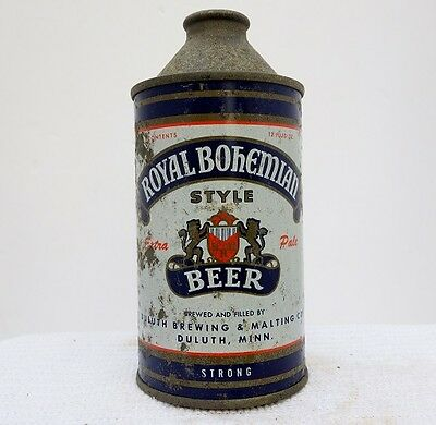 "Royal Bohemian ""Strong"" ""Treat Yourself Royally"" Cone Top Beer Can #2"