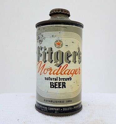 Fitger's Nordlager Cone Top Beer Can