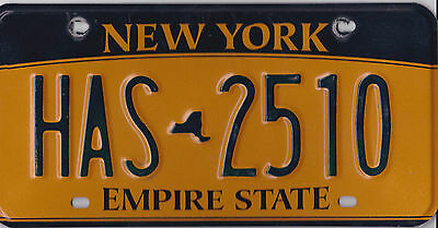 🌎⚜🐦⚜🌎   AUTHENTIC USA 2010's NEW YORK  LICENSE PLATE.  HAS-2510