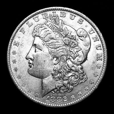 1882 O ~**ABOUT UNCIRCULATED AU**~ Silver Morgan Dollar Rare US Old Coin! #574