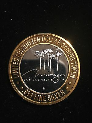 The Mirage Las Vegas Nevada .999 Silver Center 1 3/4 In Limited Token