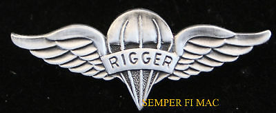 Parachute RIGGER WING LARGE XL HAT PIN US ARMY MARINES NAVY AIR FORCE PARACHUTE