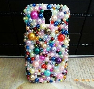 Mixed Colour Pearl Crystal Bling Case Cover For Skin Samsung Galaxy S3 NEW