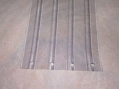 "RIBBED CLEAR PLASTIC / VINYL PVC PERFORATED DOOR STRIP 8"" wide x 7 ft x 80mil"