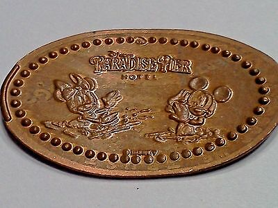 DISNEY PARADISE PIER HOTEL MICKEY & MINNIE-Elongated / Pressed Penny P-69