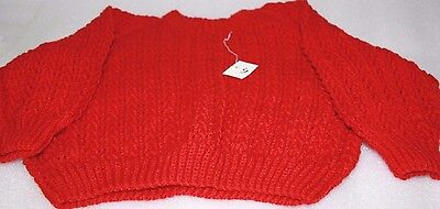 x 4 hand knitted new toddler jumpers size 5 suit 4 - 5 year old bulk lot of 4
