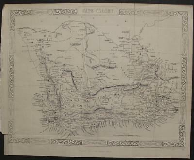 Cape Of Good Hope South Africa 1855 Rapkin Unusual Antique Steel Engraved Map
