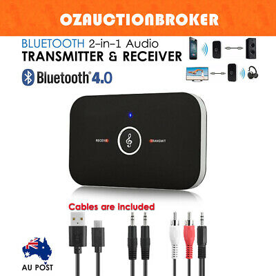 Wireless Bluetooth 2 in1 Audio Transmitter and Receiver 3.5MM RCA Adapter HIFI