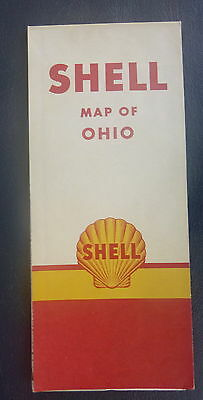 1951 Ohio  road map Shell oil  gas