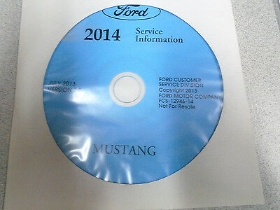 2014 Ford Mustang Workshop Service Shop Repair Information Manual ON CD NEW OEM