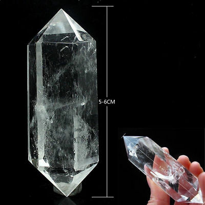 100% Natural Rock Clear Quartz Crystal Stone Point Healing Wand Decor