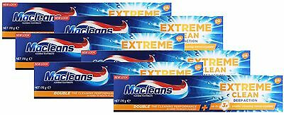6 x MACLEANS 170g TOOTHPASTE EXTREME CLEAN DEEP ACTION - ALL NEW