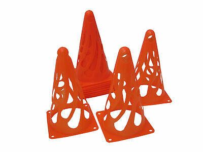 Charles Bentley Pack Of 12 Flexible Cones Training Football Sports - Red