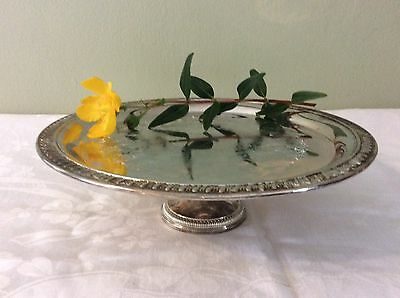 Very Pretty Silver Plated Pedestal Style Cake Stand Vgc