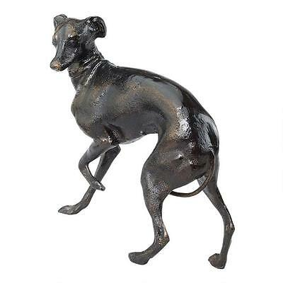 Graceful Whippet Canine Breed Italian Greyhound Cast Iron Sculpture Statue NEW