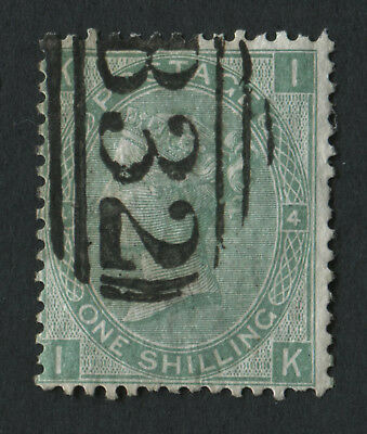 GB Used in Argentina Z25 1s Green PL 4, IK, Cancelled, B32 of Buenos Aires