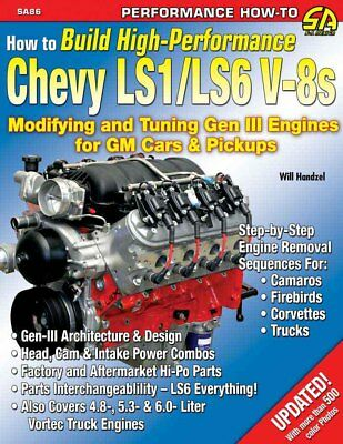 S-A Books How to Build High-Performance Chevy LS1/LS6 V-8s Engines P/N 86