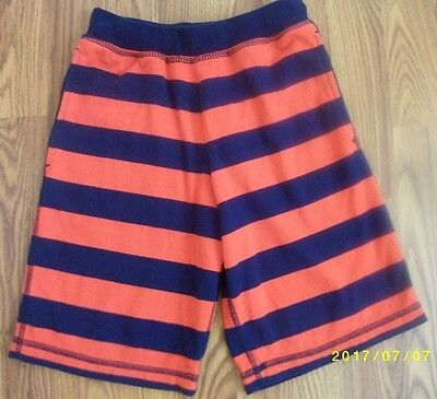 Hanna Andersson Striped Jogger Shorts Size 130 Blue & Red