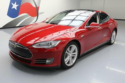 2014 Tesla Model S  2014 TESLA MODEL S 85 TECH 7-PASS LEATHER PANO NAV 42K #P39507 Texas Direct Auto