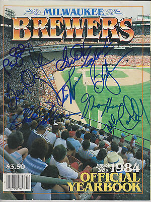 1984 Milwaukee Brewers Team Signed Official Yearbook