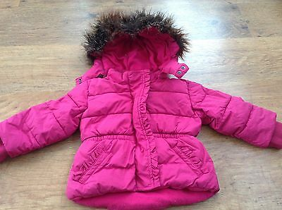 Gap  Girls Autumn Winter Hooded Coat 18-24Mths