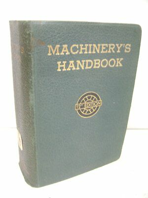 1944 Machinery's Handbook, 12Th Edition, Marquette University Library