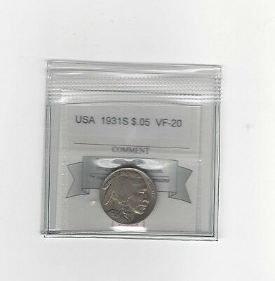 **1931S** USA, Indian Head Nickel 5 Cent