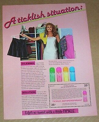 1984 print ad page -Tickle anti-perspirant -CUTE Girl- Bristol-Myers ADVERTISING
