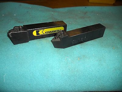 "Pair of Indexable Insert Tool Holders with 1-1/4"" Shanks, Kennametal & Carboloy"