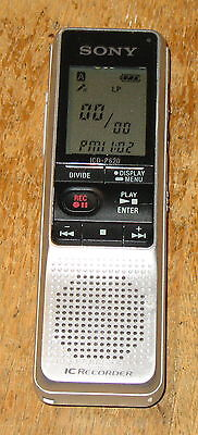 Sony ICD-P620 Handheld Digital IC Voice Recorder LCD (512MB) ~ Tested & Working