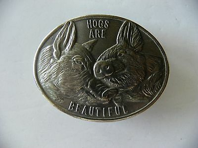 1975 National Pork Producers Pewter Belt buckle