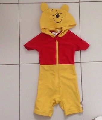 9-12 months Winnie the Pooh UV sunsuit with hood
