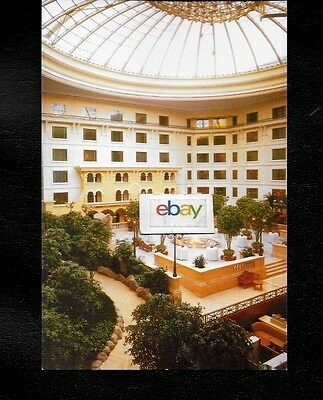 Jw.marriott Hotel Dubai Uae Hotel Issue Atrium Courtyard Postcard