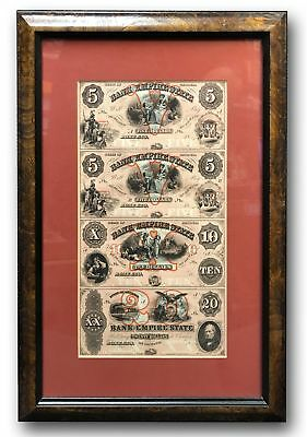 Bank of the Empire State - Rome, GA $5-$5-$10-$20 Uncut Sheet Proof