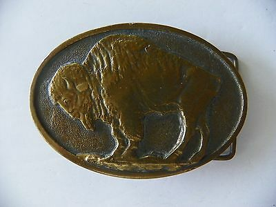 Buffalo Brass Belt Buckle