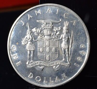1969 Jamaica 1 Dollar - Proof