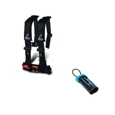 "DragonFire Racing - Black 4 Point H Style 3"" Harness with Override Sensor Plug"