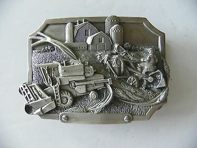 1983 Farming Pewter Belt Buckle