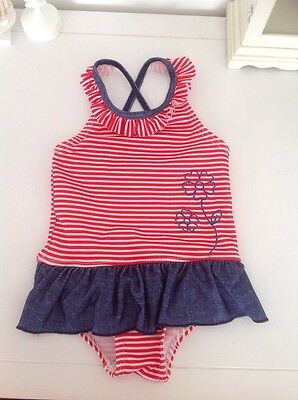Age 12 months Penelope Mack baby girls swimsuit with frill