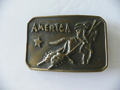 1973 Native American Brass Belt Buckle