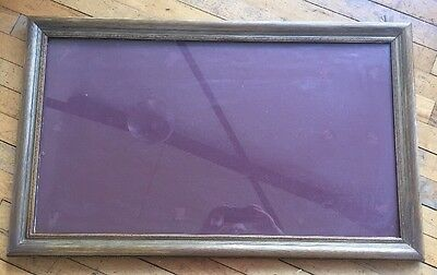 Lovely Old Antique Vintage Large Gilt Picture Frame With Original Glass