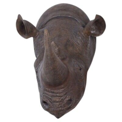 Life Size Rhino Rhinoceros Wall Head Bust Huge for Hunting Lodge Restaurant Bar