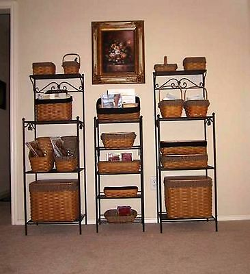 Longaberger Wrought Organizational Unit / Rack / Stand + Shelf - ONE - Nice! USA