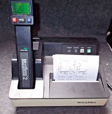 WELCH ALLYN MicroTymp 2 Tympanometer w/ Printer Charger 71170 Micro Tymp #mG78