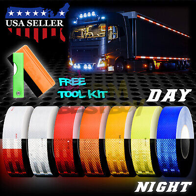 "*Reflective Conspicuity Tape 2""x150' DOT-C2 Safety Warning Sign Car Truck RV"