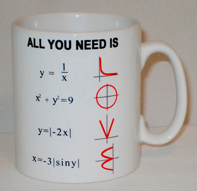 All You Need Is Love Maths Equation Mug Math Teacher Student College School Cup