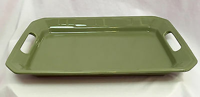 Longaberger Woven Traditions Handled Platter in Sage Green