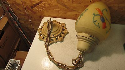 1938 Parrot Light Globe & Ceiling Light Fixture