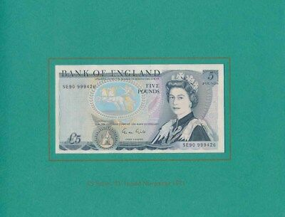 Great Britain: 1991 Presentation Set of First & Last £5, UNC Cat $220 Rare!